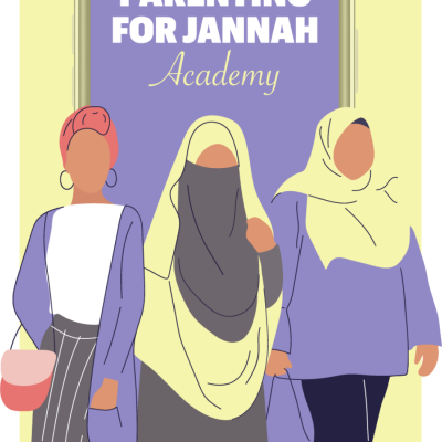 Image of three muslim women walking together